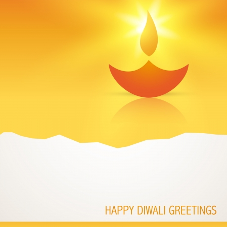 stylish glowing diwali diya background