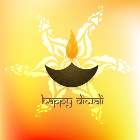 stylish happy diwali background Vector