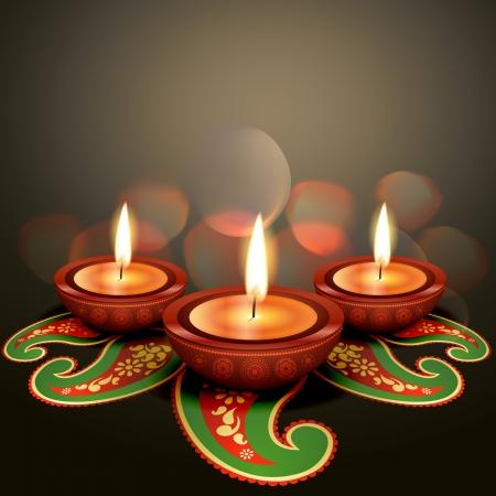 indian light: indian festival de diwali background vector