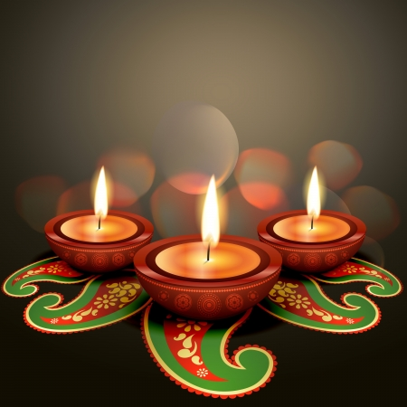 indian festival diwali vector background Vector