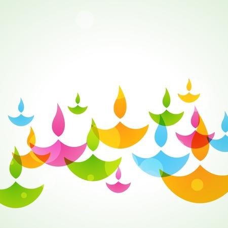 diya: hermoso fondo de colores con estilo diwali