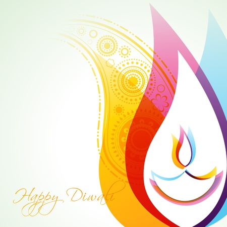 beautiful creative colorful happy diwali background Vector