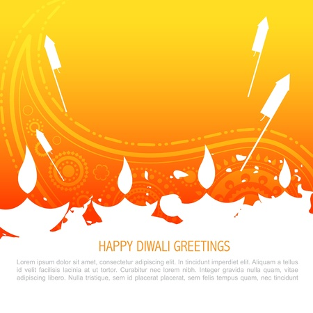 diwali greeting: colorful happy diwali background