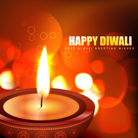 beautiful happy diwali background Vector