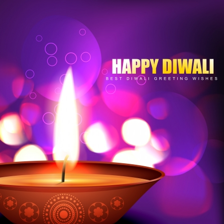 diwali celebration: diwali diya background illustration