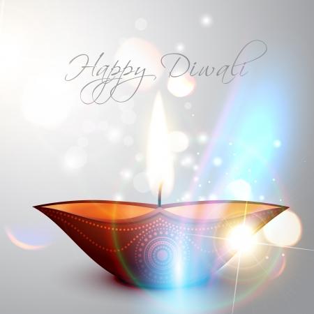 diwali celebration: beautiful shiny happy diwali background Illustration