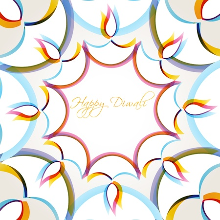 diwali: creative colorful happy diwali vector background