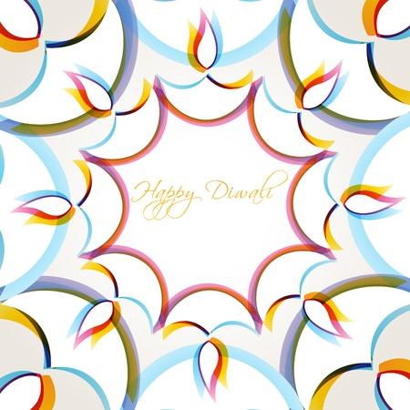 diwali background: creative colorful happy diwali vector background