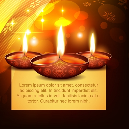 deepawali: diwali diya on stylish background