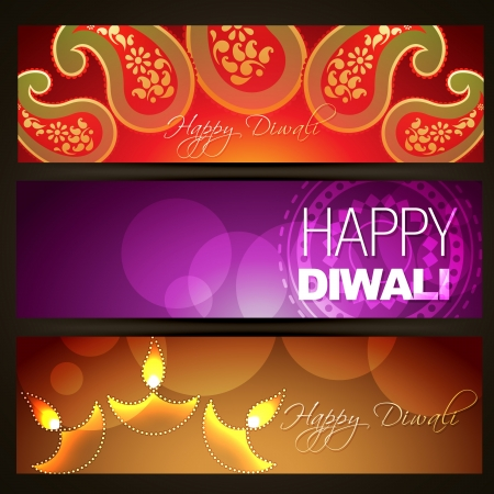diwali celebration: set of diwali headers designs