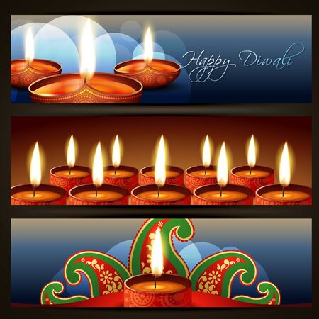 deepawali: beautiful set of diwali headers