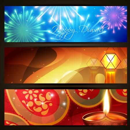 diya: conjunto de hermosas cabeceras de diwali