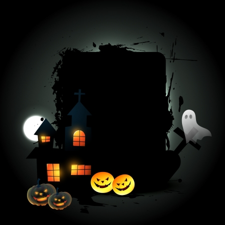vector halloween design with space for your text Illustration