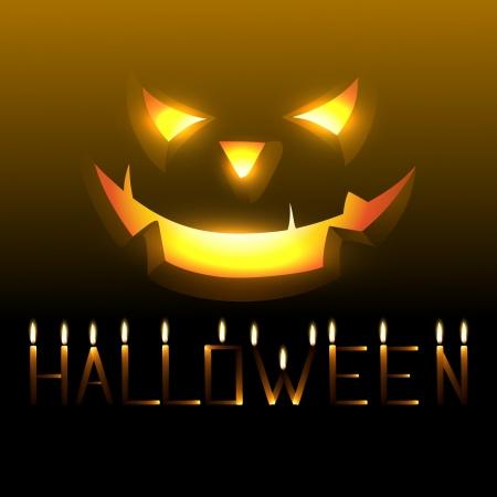 tricks: vector scary happy halloween design Illustration