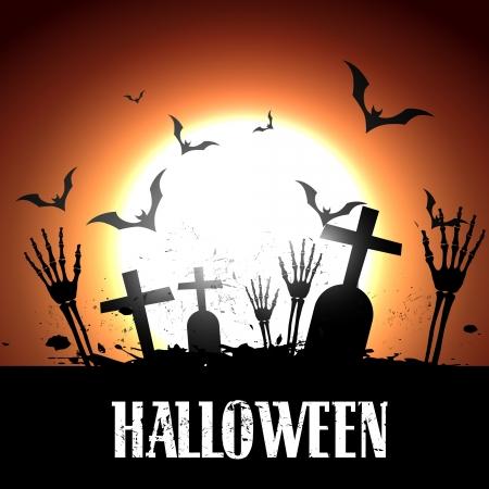 Vector Scary Halloween dise�o ilustraci�n