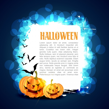 halloween greetings: vector halloween card with space for your text