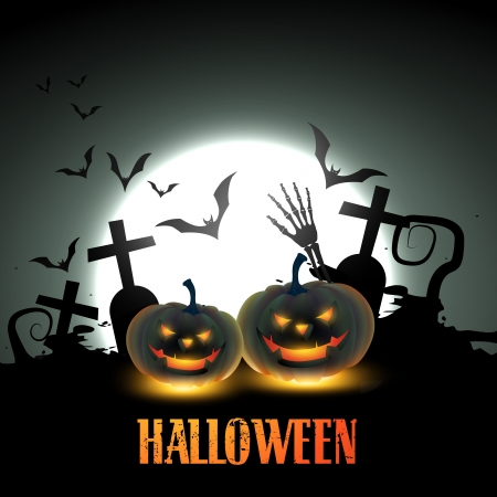 vector scary halloween design illustration Vector