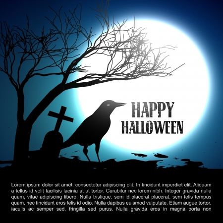 bare trees: vector halloween design with space for your text Illustration