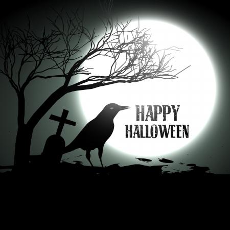 halloween vector design background illustration