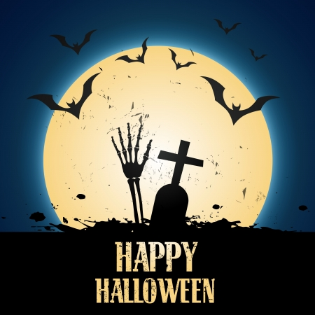 vector scary halloween background design Vector