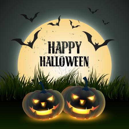 bare: vector scary happy halloween design Illustration
