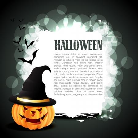 tratar: ab�bora de Halloween do vetor com espa�o para seu texto