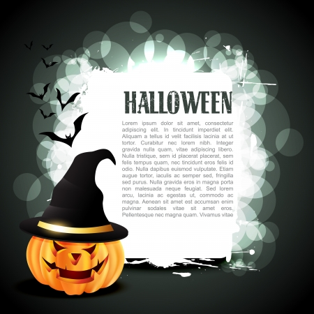 halloween ghost: vector halloween pumpkin with space for your text