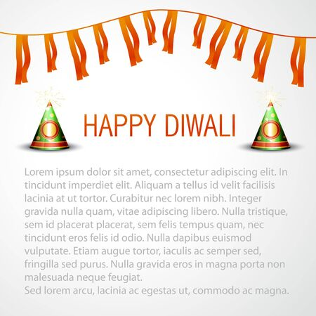 beautiful happy diwali vector background with space for your text Stock Vector - 16131160