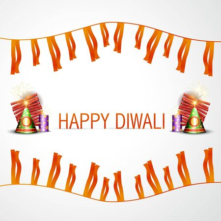 happy diwali background with space for your text Vector