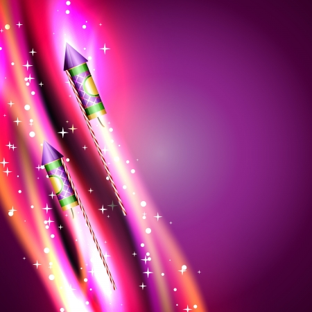 vector shiny rocket firework design Vector