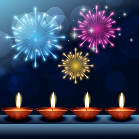 vector beautiful happy diwali background  Vector