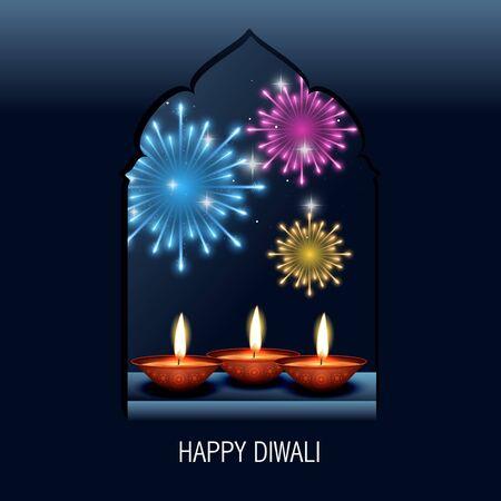 happy diwali vector background design Stock Vector - 16131321