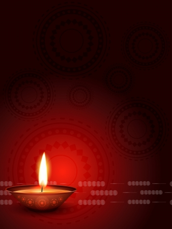 vector diwali diya with space for your text Stock Vector - 16131322