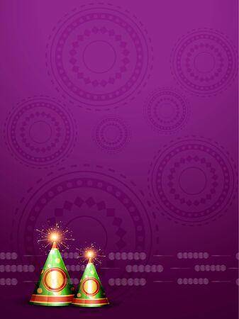 vector diwali crackers background design Stock Vector - 16131278