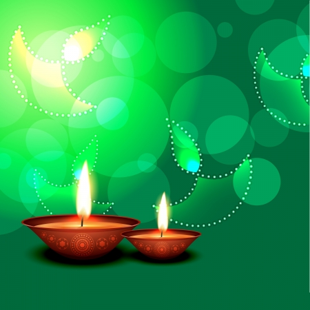 vector diwali diya with space for your text Stock Vector - 16131320