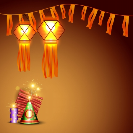 vector diwali crackers background with space for your text Stock Vector - 16131363