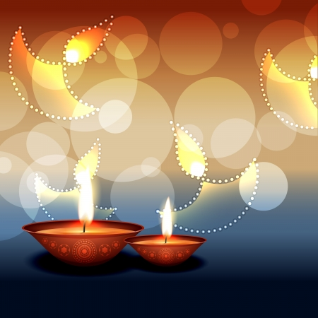 stylish vector diwali background design Vector