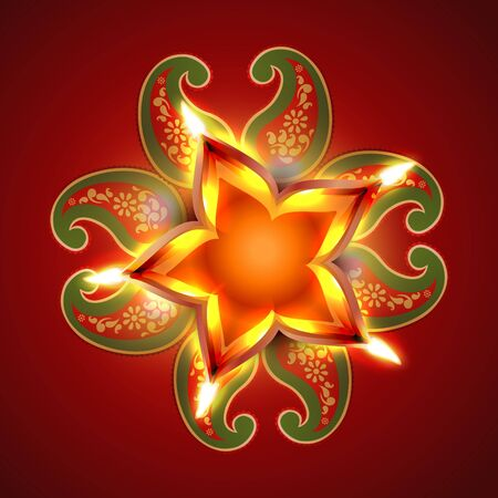 indian festival diwali design background Vector