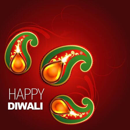 happy diwali vector background design Vector