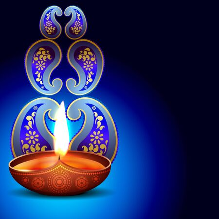 beautiful happy diwali background design Vector