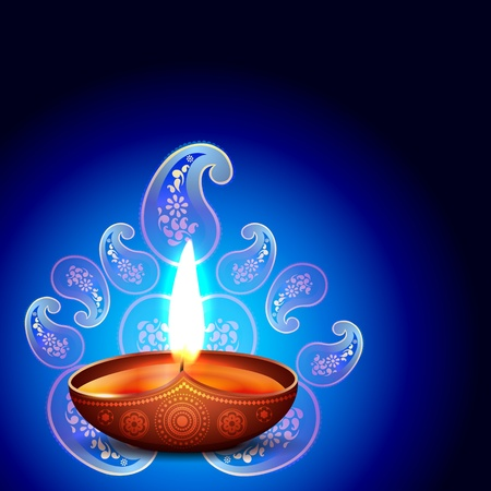 vector diwali background design illustration Stock Vector - 16131241