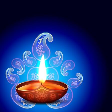 vector diwali background design illustration Stock Vector - 16131241