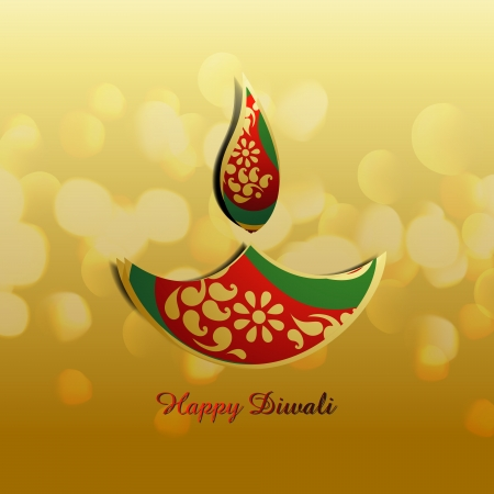 stylish vector diwali diya design illustration Vector