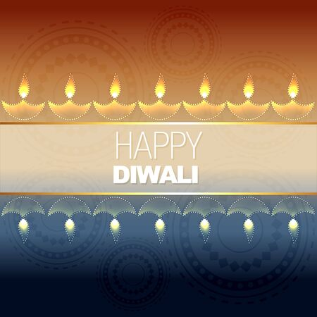 beautiful vector diwali background design Vector