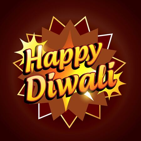 vector happy diwali symbol illustration Vector