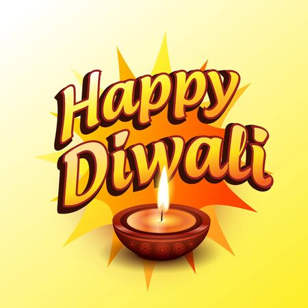 vector happy diwali greeting illustration Vector