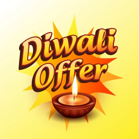 vector diwali offer design illustration Vector