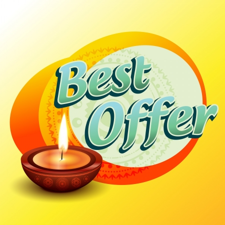 best diwali offer design illustration Vector