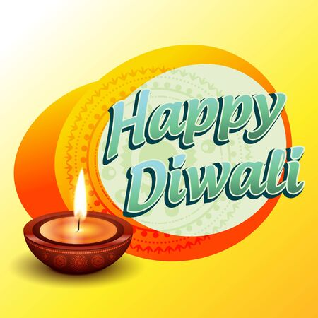 vector happy diwali greeting illustration