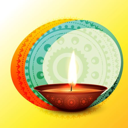 vector stylish diwali diya design illustration Vector